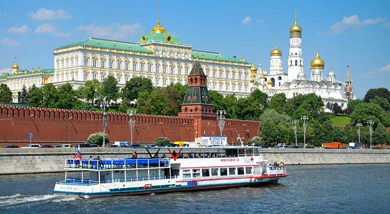 Buy tickets for river boats across the Moscow River at Holiday Inn Moscow Tagansky